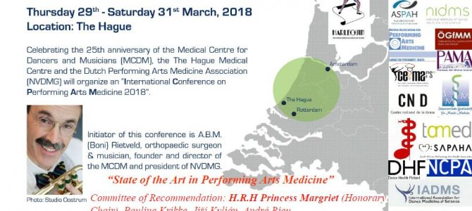 International Conference of Performing Arts Medicine, Den Hague 2018